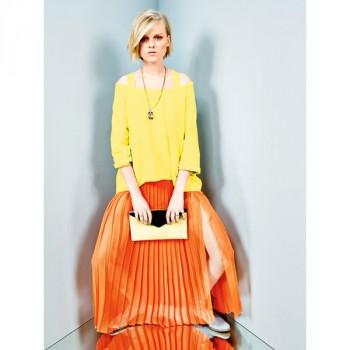 Burda Style   Pleated Maxi Skirt 06/2014 #113
