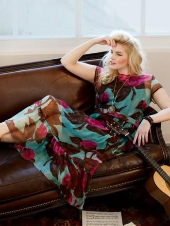Burda Style | Midi Dress with Ruffle Hem (Plus Size) 05/2014#139