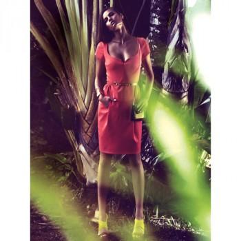 Burda Style | Sweetheart Tulip Skirt Dress 05/2014 #109