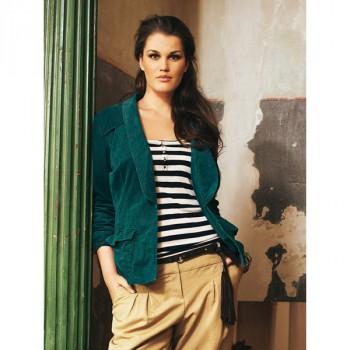 Burda Style | Corduroy Blazer (Plus Size) 03/2012#134