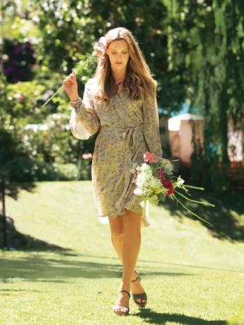 Burda Style | Floral Wrap Dress 04/2011#134