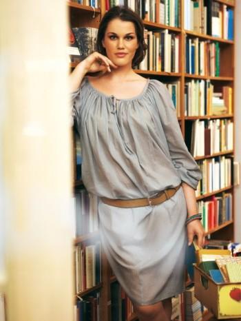 Burda Style   Off the Shoulder Dress (Plus Size) 03/2012#132B