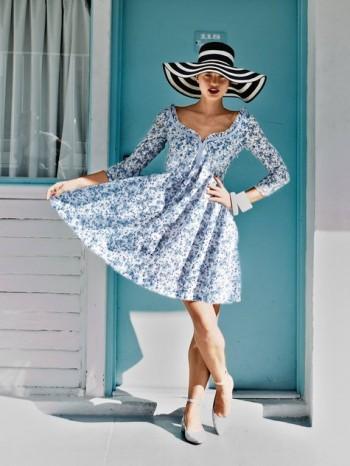 Burda Style | Sweetheart Neckline Dress 05/2014#108