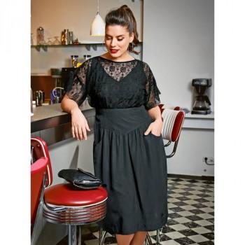 Burda Style | Lace Bodice Dress (Plus Size) 07/2014 #128