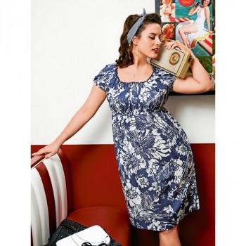Burda Style | Empire Waist Dress with Puff Sleeves (Plus Size) 07/2014#131