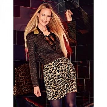Burda Style | Leopard Print Mini Skirt 08/2014#122A