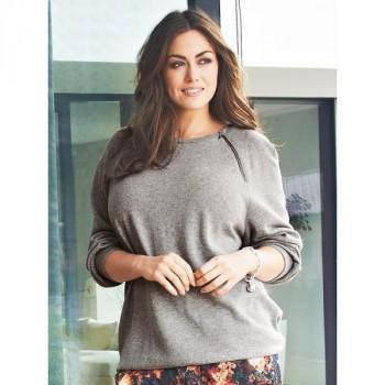 Burda Style | Zipper Jersey Top (Plus Size) 08/2014#136A