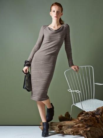 Burda Style | Long Sleeve Cowl Neck Dress 10/2014#105