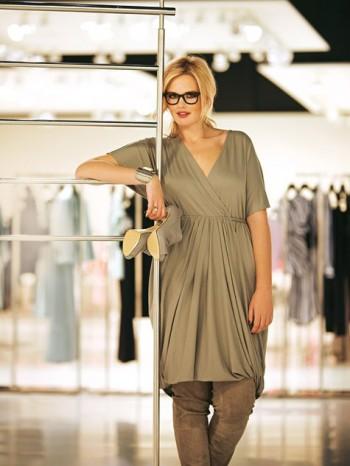 Burda Style | Criss Cross Jersey Dress (Plus Size) 08/2011#140