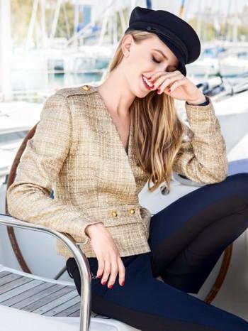 Burda Style | Belted Epaulette Jacket 10/2014#120