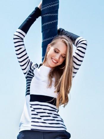 Burda Style | Paneled Jersey Top 10/2014#104