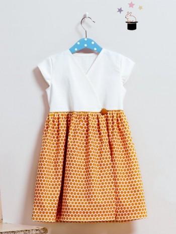 Burda Style | Contrast Wrap Dress 08/2014#144