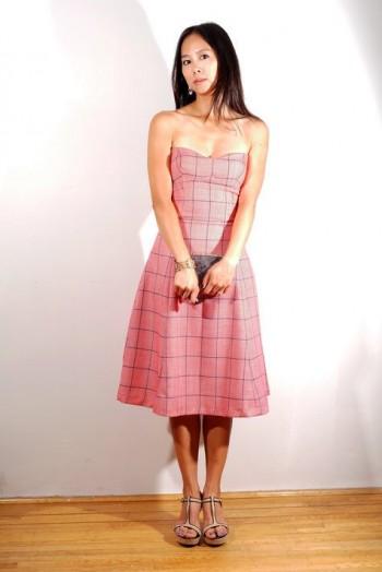 Burda Style | Strapless Bustier Designer Dress 02/2011#165