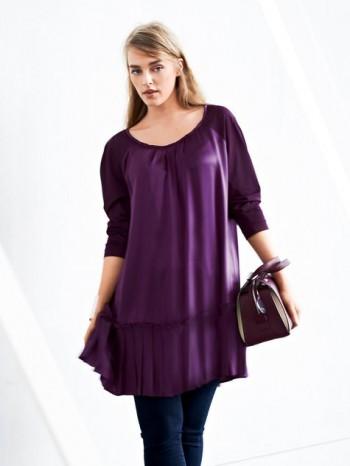 Burda Style | Pleated Tunic Dress (Plus Size) 10/2014#137