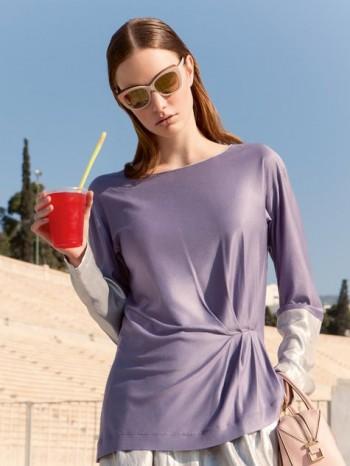 Burda Style | Metallic Long Sleeve Shirt 08/2014#133