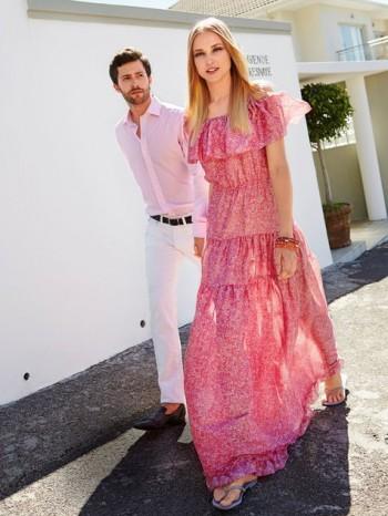 Burda Style | Tiered Off the Shoulder Maxi Dress 07/2014#121