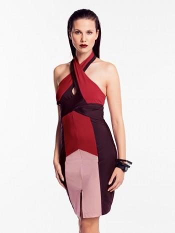 Burda Style | Wraparound Halter Dress 07/2014#107