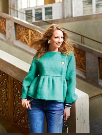 Burda Style | Mohair Peplum Jacket 11/2014#101