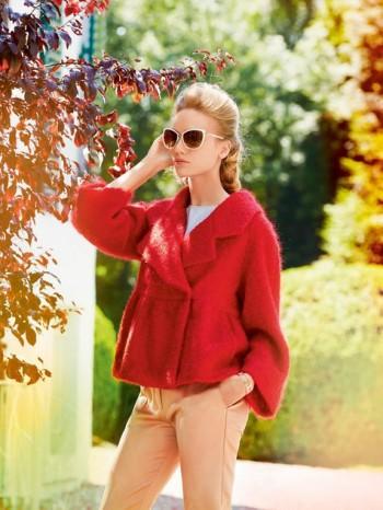 Burda Style | Short Peplum Coat 11/2014#102