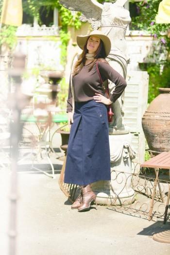 Burda Style | Box Pleat Skirt (Plus Size) 11/2011#135
