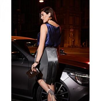 Burda Style | Contrast Pencil Skirt (Plus Size) 12/2014 #138B