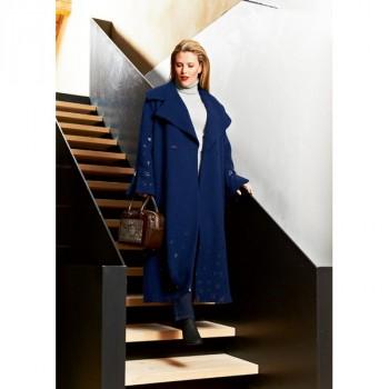 Burda Style | Mid-Calf Length Maxi Coat (Plus-Size) 01/2015#131