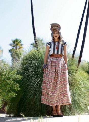 Burda Style | Pleated Maxi Wrap Skirt 02/2015#121B