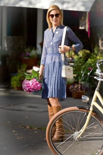 Burda Style | Sheer Pleated Placket Dress 03/2015#118B
