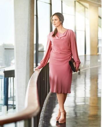 Burda Style | Waterfall Dress (Plus Size) 03/2015 #136
