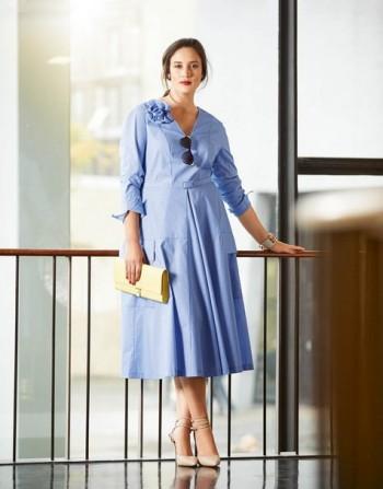 Burda Style | 50's Flare Dress (Plus Size) 03/2015 #133