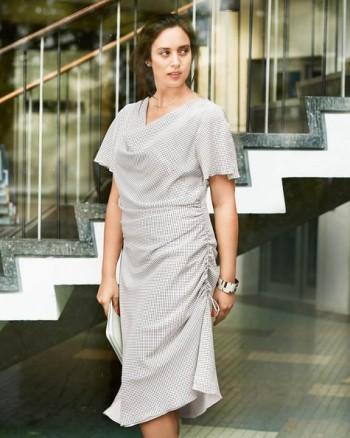 Burda Style | Ruched Side Seam Dress (Plus Size) 03/2015 #134