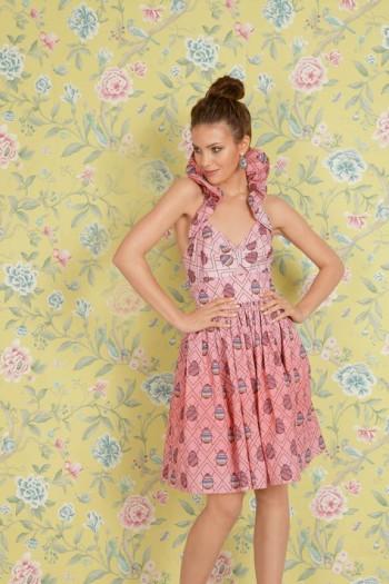 Burda Style | Ruffled Halter Dress (Petite-Size) 04/2015 #111A