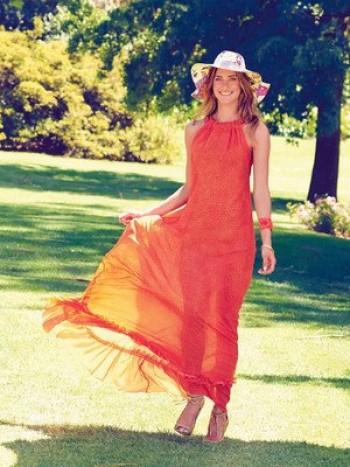 Burda Style | Cross Back Maxi Dress 07/2015 #106