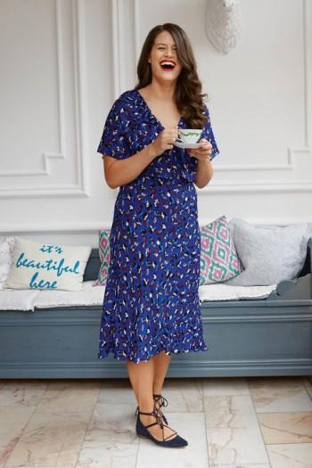 Burda Style | Capelet Dress (Plus Size) 08/2015 #127A