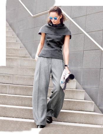 Burda Style | Sleeveless High Neck Blouse 10/2015#110