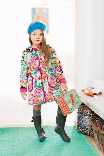 Burda Style | Girl's Reversible Coat 10/2015#136