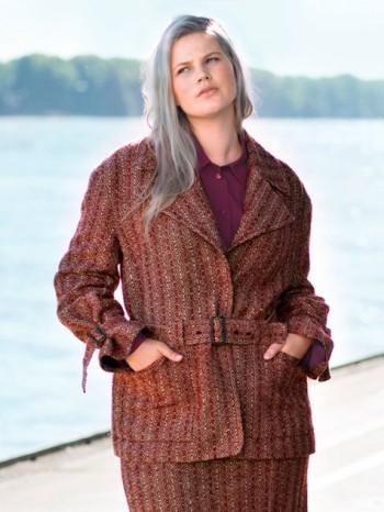 Burda Style | Belted Jacket (Plus Size) 11/2015#122