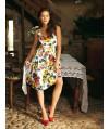 Burda Style   Tank Dress with Gathered Skirt (Petite-Size) 02/2011#104