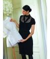 Burda Style | Little Black Dress with Lace Inset (Petite-Size) 10/2011 #125