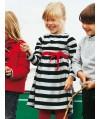 Burda Style | Girl's Striped Dress 10/2011 #146