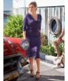 Burda Style   Jersey Cowl Dress (plus-size) 07/2013 #133