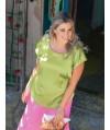 Burda Style   Gathered Satin Shirt (plus-size) 07/2013 #134