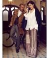 Burda Style | Wide Silk Trousers (Plus-Size) 08/2013 #136