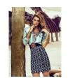 Burda Style   High Waisted Mini Skirt 04/2014 #113