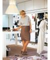 Burda Style   Leather Pencil Skirt (Plus Size) 08/2011#141
