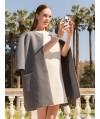 Burda Style   Three Quarter Sleeve Coat 08/2014#102