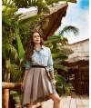 Burda Style | A-Line Pleated Skirt 03/2015 #101